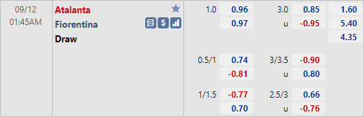 Nhận định bóng đá Atalanta vs Fiorentina, 01h45 ngày 12/9: VĐQG Italia