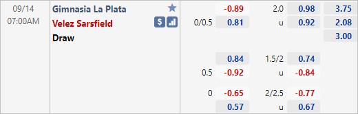 Nhận định bóng đá Gimnasia LP vs Velez Sarsfield, 07h00 ngày 14/9: VĐQG Argentina